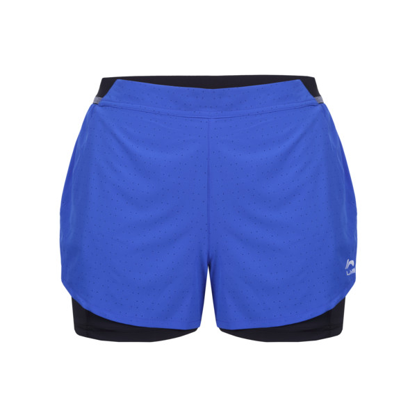 Li-Ning Short 2en1 Lolly Femme Bleu Royal