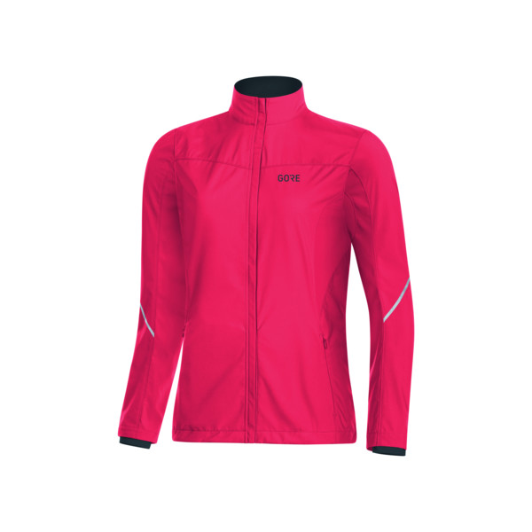 Gore R3 PARTIAL WINDSTOPPER JKT Femme Ibiscus/pink