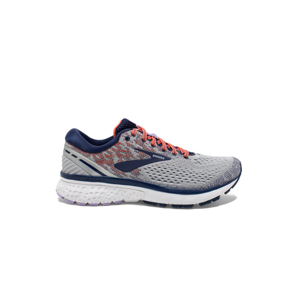 Brooks Ghost 11 Femme Grey/blue/coral