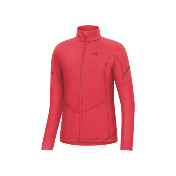 Gore M Maillot ML Thermo Full Zip Femme Ibiscus Rouge
