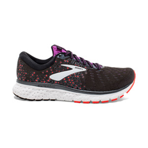Brooks Glycerin V17 Femme Black/fiery Coral/purple