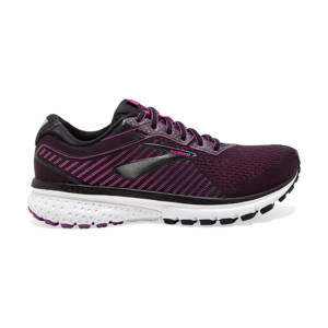 Brooks Ghost V12 Femme Black/hollyhock/pink