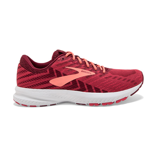 Brooks Lauch V6 Femme Rumba Red/teaberry/coral