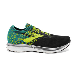 Brooks Ricochet Homme Black/lime/blue Grass