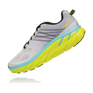 Hoka Clifton 6 Homme Grey Yellow