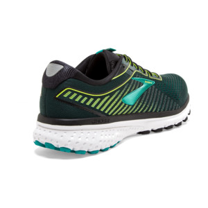 Brooks Ghost 12 Homme Black / Lime / Blue Grass