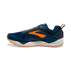 Brooks Cascadia 14 Homme Poseidon / Orange / Grey