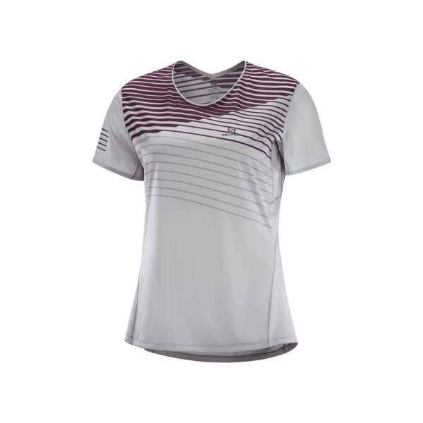Salomon Sense T-shirt Femme Alloy Winetasting