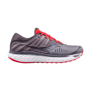 Saucony Hurricane 22 Homme Charcoal / Red