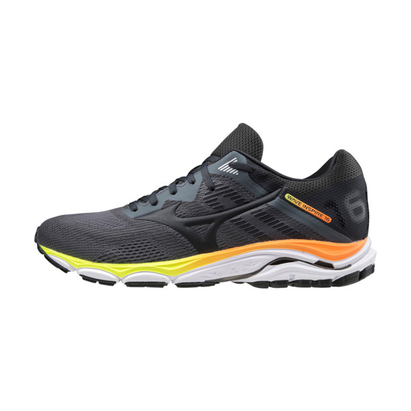 Mizuno Wave Inspire 16 Homme Castlerock / Phantom / Shoking Orange