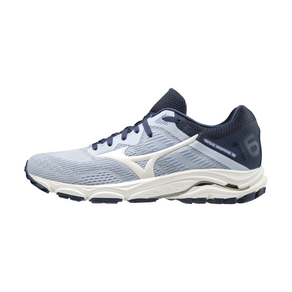 Mizuno Wave Inspire 16 Femme Artic Ice / Snow White / Mood Indigo