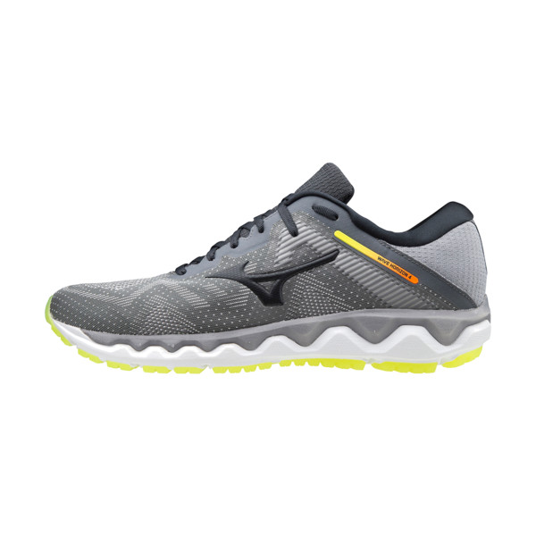 Mizuno Wave Horizon 4 Homme Frost Gray / Phantom / Safety Yellow