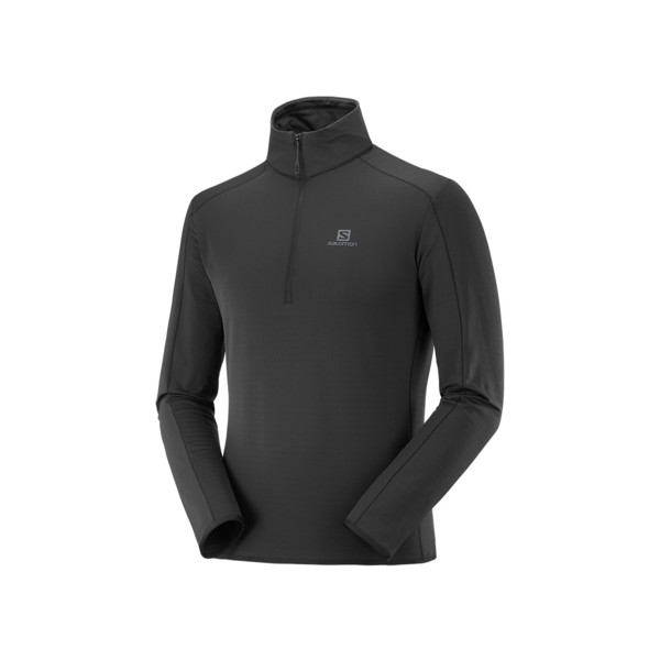 Salomon Outrack half zip mid Homme Black