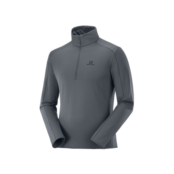 Salomon Outrack half zip mid Homme Ebony