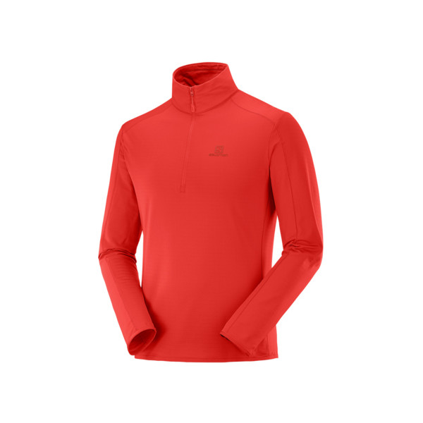 Salomon Outrack half zip mid Homme Goji Berry