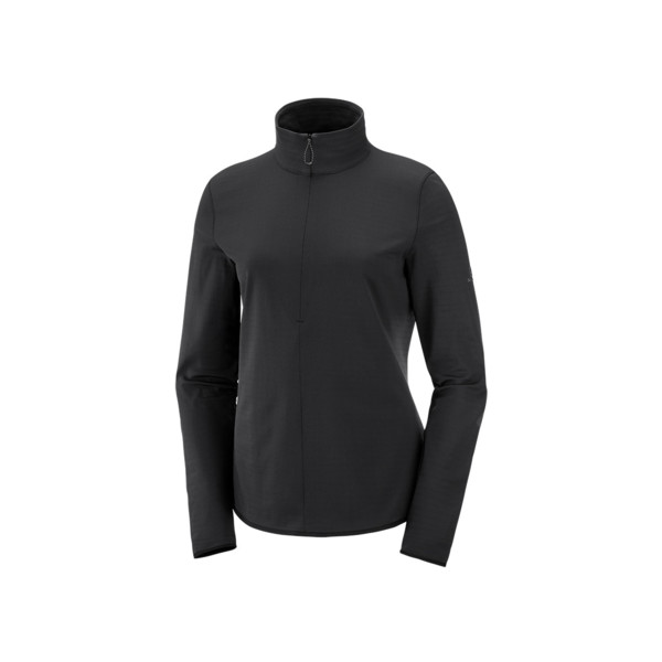 Salomon Outrack half zip mid Femme Black